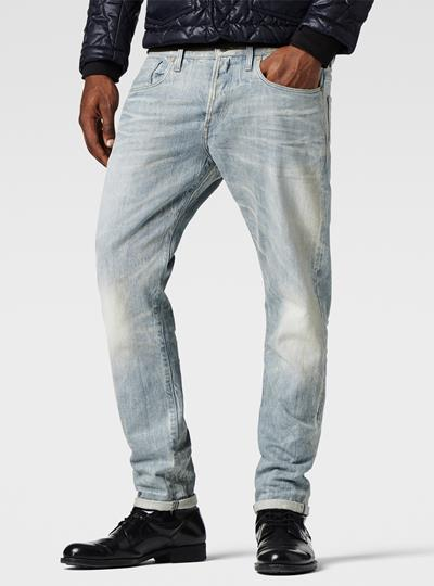 3301 Tapered Red Listing Jeans
