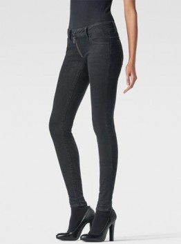 Lynn Zip Mid-Rise Skinny Jeans