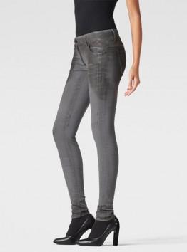 Lynn Zip Shablon Mid-Rise Skinny Jeans