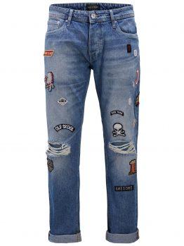 JACK & JONES Mike Original Patch Jos 679 Comfort Fit Jeans Heren Blauw